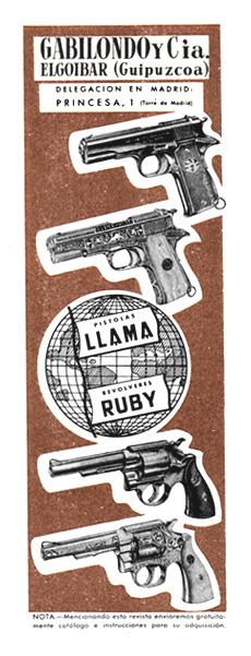 pistolas llama y revolveres ruby