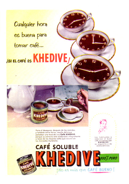 cafe soluble khedive