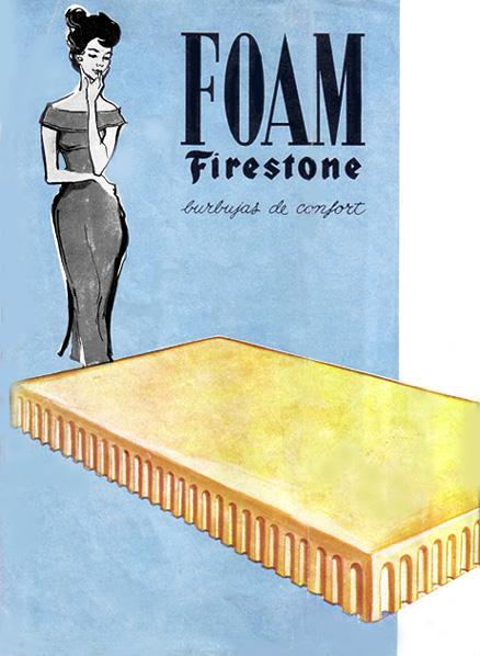 colchones de latex foam firestone