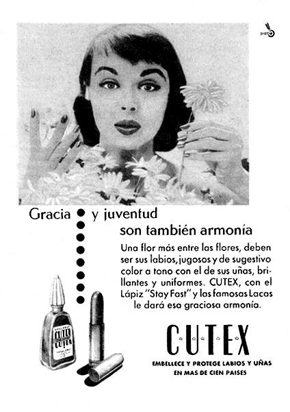 productos de cosmética cutex