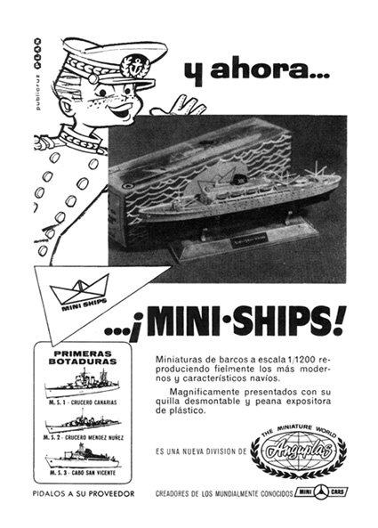 miniaturas mini ships