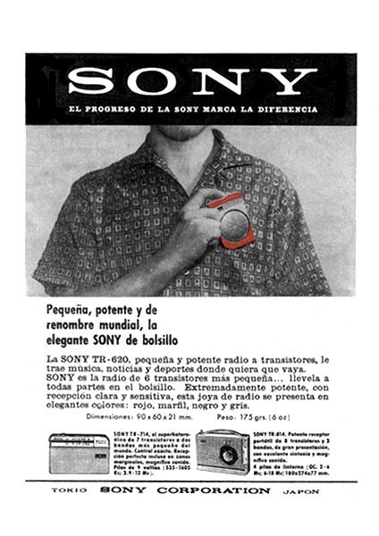 transistor  de bolsillo sony