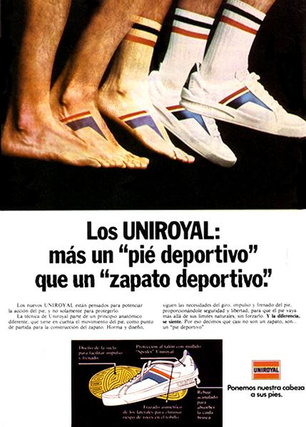 zapatos deportivos uniroyal